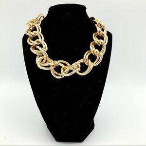 Vintage Chunky Chain Necklace Goldtone